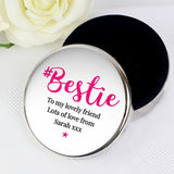 Personalised #Bestie Round Trinket Box - Personalised Gift From Personally Presented