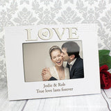 Personalised Love White 6x4 Photo Frame - Personalised Gift From Personally Presented