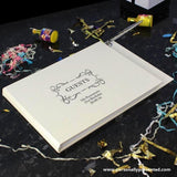Personalised Hardback Guest Book & Pen Swirl Design - Personalised Gift From Personally Presented