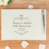 Personalised Ornate Swirl Guest Book & Pen - Personalised Gift From Personally Presented