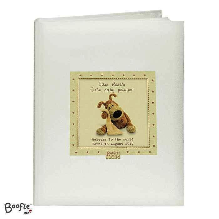 Personalised Boofle Baby Album with Sleeves - Personalised Gift From Personally Presented