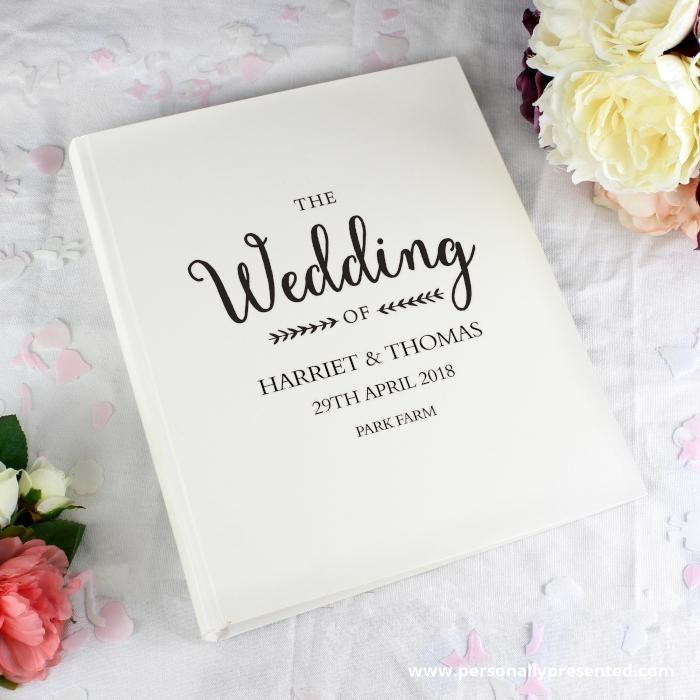 Personalised Rustic Wedding Traditional Album - Personalised Gift From Personally Presented