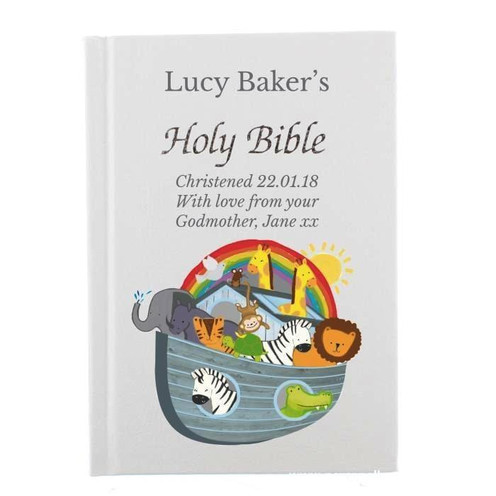Personalised Noah's Ark Bible - Personalised Gift From Personally Presented