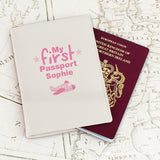 Personalised My First Cream Passport Holder - Personalised Gift From Personally Presented