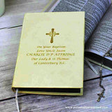 Personalised Gold Companion Holy Bible - Eco-friendly - Personalised Gift From Personally Presented