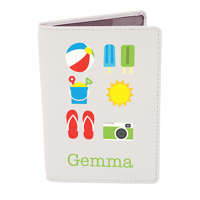 Personalised Bright Travel Cream Passport Holder - Personalised Gift From Personally Presented