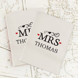 Personalised Mr & Mrs Cream Passport Holders - Personalised Gift From Personally Presented