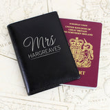 Personalised Mr & Mrs Black Passport Holders