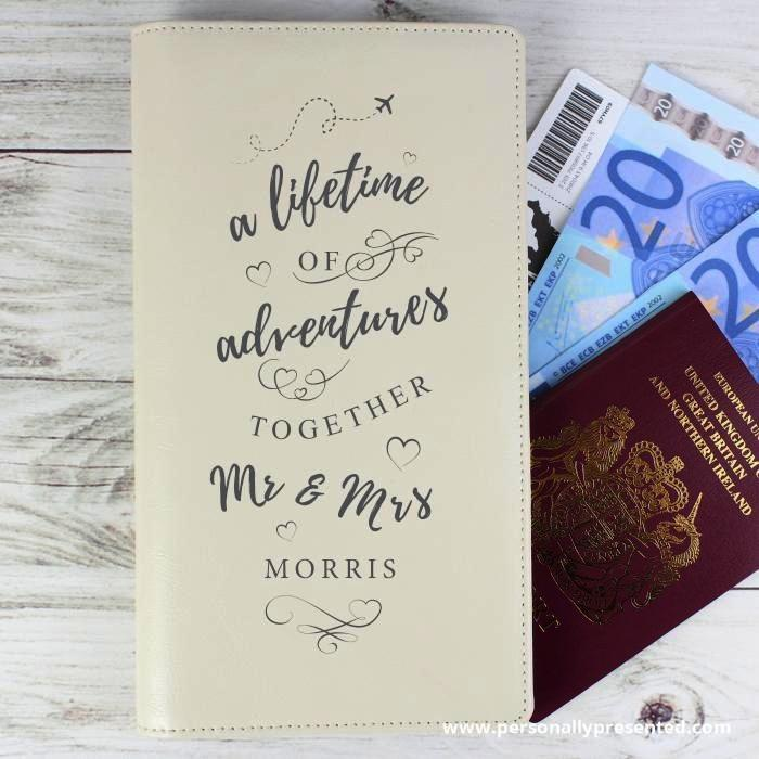 Personalised A Lifetime Of... Travel Document Holder - Personalised Gift From Personally Presented