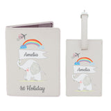 Personalised My 1st Cream Passport Holder & Luggage Tag Set - Personalised Gift From Personally Presented