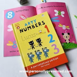 Personalised Arty Mouse Numbers Book Hardback - Personalised Gift From Personally Presented