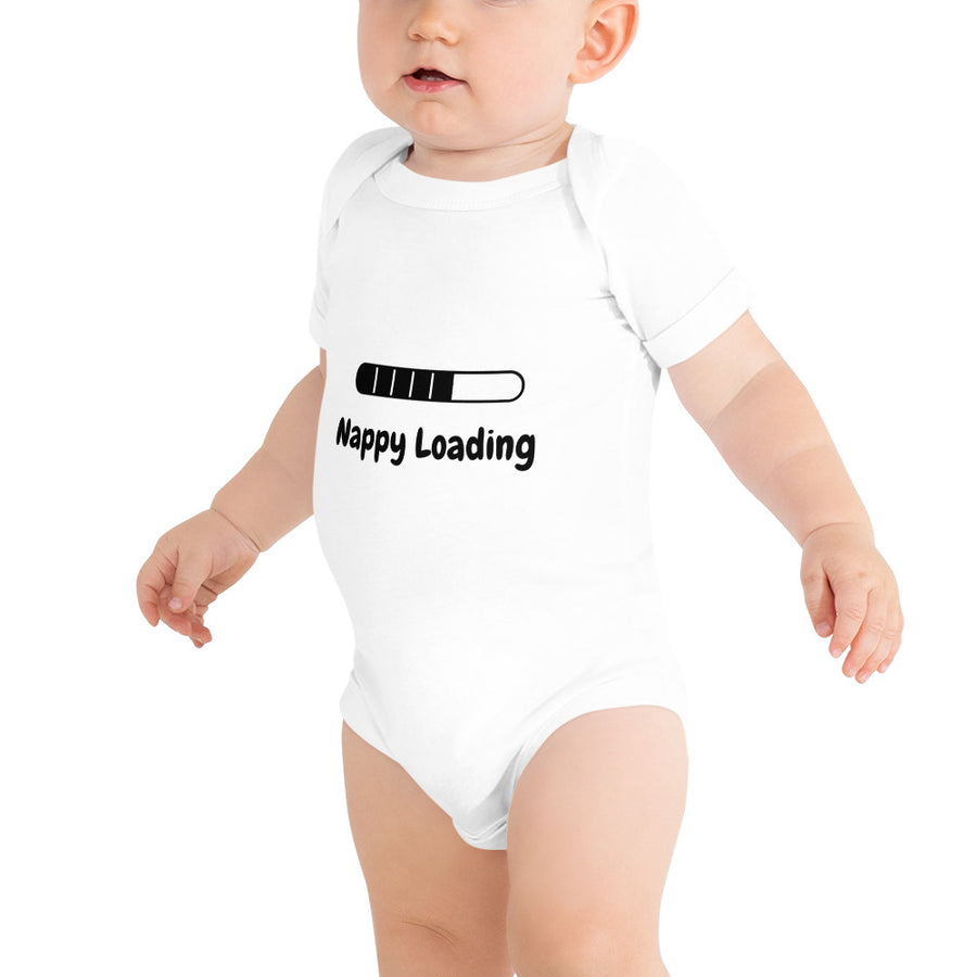 "Personalised ""Loading"" Baby Body Suit"