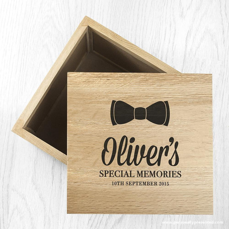 Personalised Baby's Special Memories Oak Photo Keepsake Box - Personalised Gift From Personally Presented