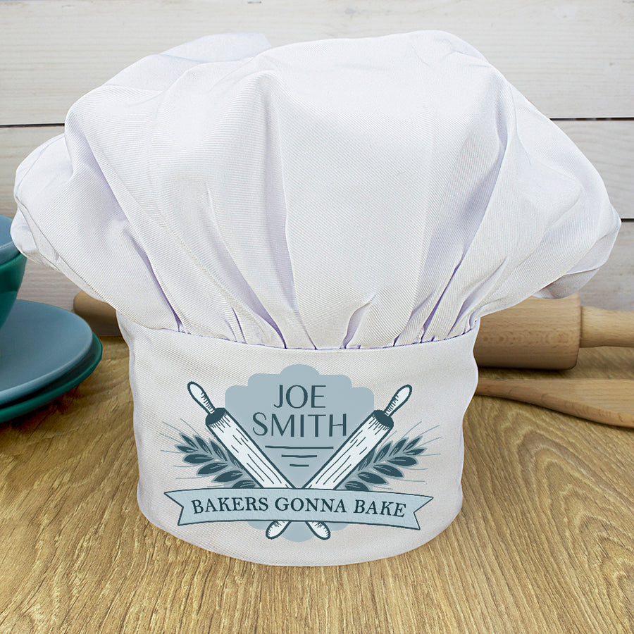 Personalised Bakers Gonna Bake Chef Hat - Personalised Gift From Personally Presented