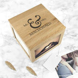 Personalised Classic Mr & Mrs Oak Photo Keepsake Box - Personalised Gift From Personally Presented