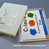 Personalised First Steps Colours Board Hardback Book for Toddlers - Personalised Gift From Personally Presented