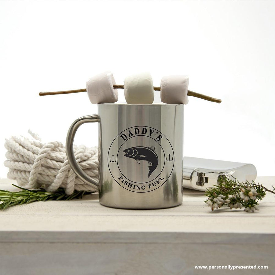 Personalised Gentlemen's Fishing Fuel Outdoor Mug - Personally Presented