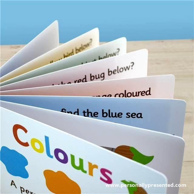 Personalised First Steps Colours Board Book for Toddlers - Personalised Gift From Personally Presented