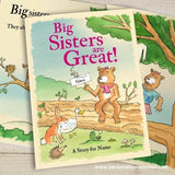 Personalised Big Sisters are Great Hardback Book - Personalised Gift From Personally Presented