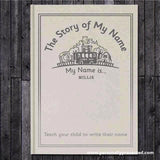 Personalised The Story of My Name Embossed Classic Hardback - Personalised Gift From Personally Presented