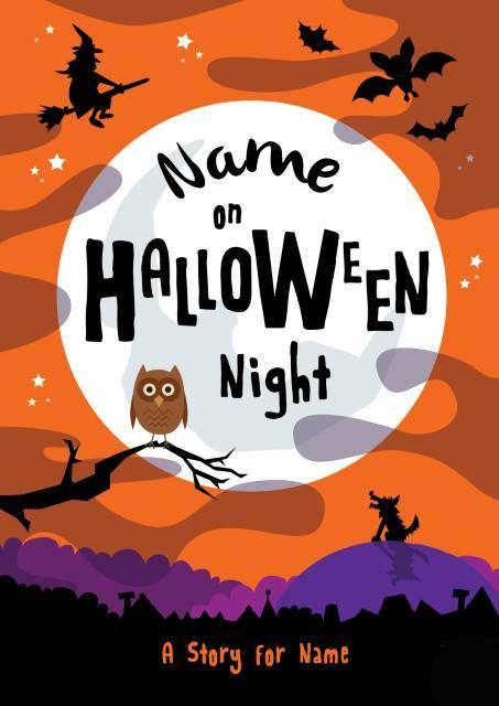 Personalised On Halloween Night - Hardback Book