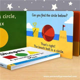 Personalised First Steps Shapes Hardback Board Book for Toddlers - Personalised Gift From Personally Presented
