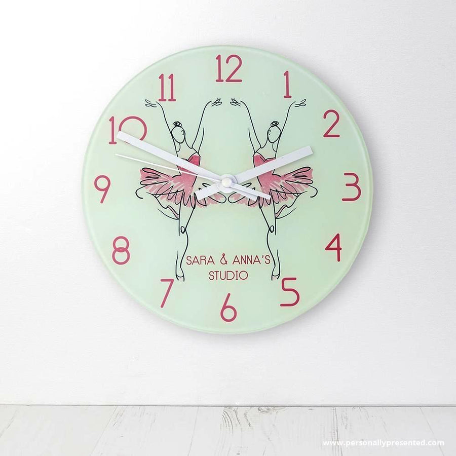 Graceful Ballet Dancer Personalised Wall Clock - Personalised Gift From Personally Presented