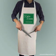 personalised apron lets cook