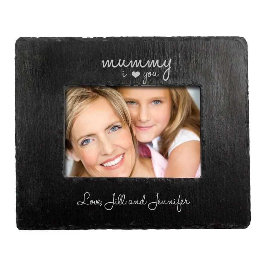 Personalised Love You Mummy Slate Landscape Photo frame - Personalised Gift From Personally Presented