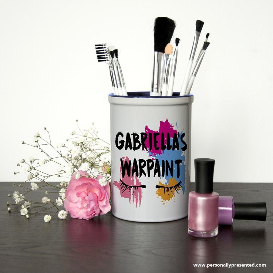 My Warpaint Personalised Make Up Brush Holder - Personalised Gift From Personally Presented
