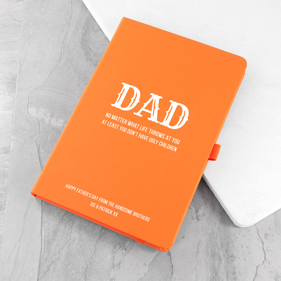 NO MATTER WHAT DAD A5 NOTEBOOK - Personalised Gift From Personally Presented