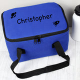 Personalised Blue/Black Rocket Lunch Bag - Personalised Gift From Personally Presented
