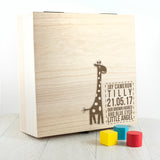 Personalised Baby Giraffe Keepsake Box - Personalised Gift From Personally Presented