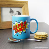 Personalised Superdad! Matte Coloured Mug - Personalised Gift From Personally Presented