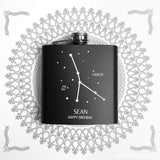 Personalised Star Constellation Matte Black Hip Flask - Personalised Gift From Personally Presented