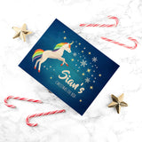 Personalised Rainbow Unicorn Christmas Eve Box - Personalised Gift From Personally Presented