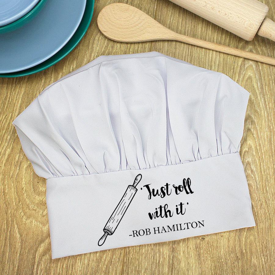 Personalised Roll With it Chef Hat - Personalised Gift From Personally Presented