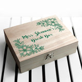 Personalised Teacher's Tea Break Box Floral Design - Personally Presented
