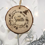 Personalised Engraved Set of Two Couple's Christmas Tree Decoration - Personalised Gift From Personally Presented