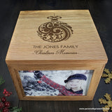 Personalised Christmas Memory Box Bauble Design - Personalised Gift From Personally Presented