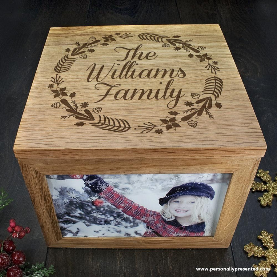 Personalised Family's Christmas Memory Box - Personally Presented