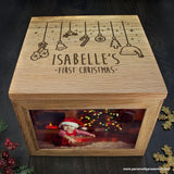 Personalised Baby's First Christmas Memory Box - Personally Presented