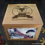 Personalised Woodland Reindeer Christmas Memory Box - Personalised Gift From Personally Presented