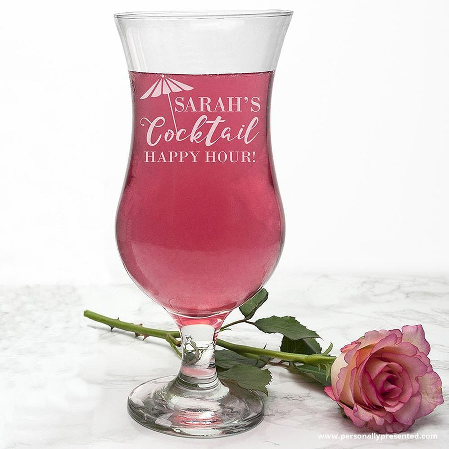 Personalised Happy Hour Cocktail Glass - Personalised Gift From Personally Presented