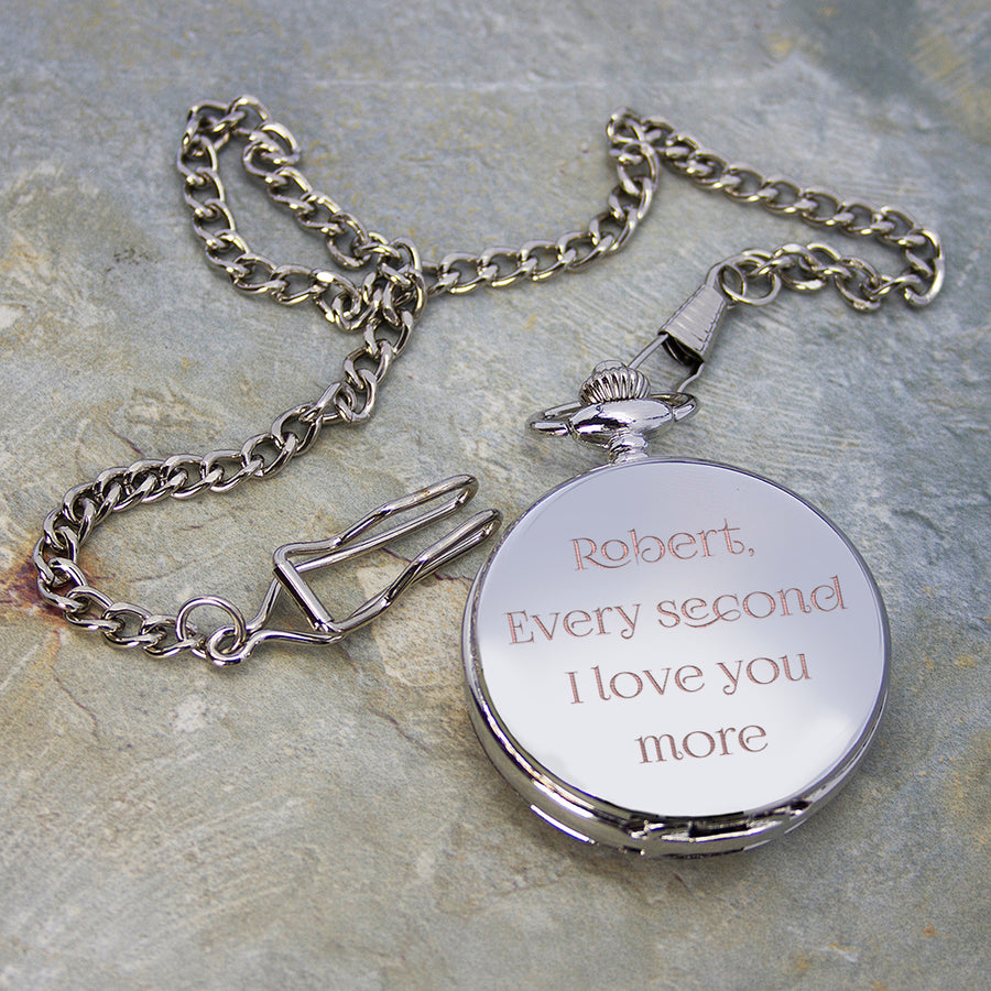 Personalised Valentine's Day Dual-Side Pocket Watch