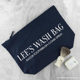 Personalised Men's Wash Bag in Navy - Personalised Gift From Personally Presented