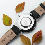 Men's Black Modern-Vintage Personalised Leather Watch - Personalised Gift From Personally Presented