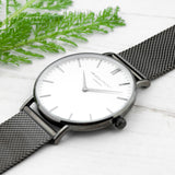 Personalised Men's Metallic Charcoal Grey Watch - Personalised Gift From Personally Presented