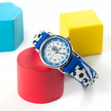 Personalised Kids Blue Football Watch - Personalised Gift From Personally Presented
