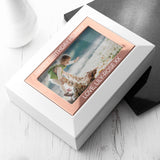 Personalised White & Rose Gold Photo Jewellery Box